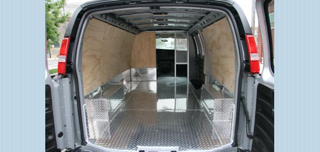 inside van fabrication