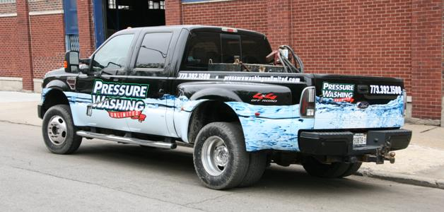 pick up truck graphic wrap
